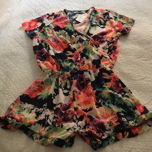 Pants - Floral romper